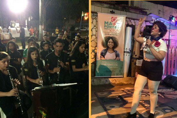 Apresentação musical em Goiana e diversão em Olinda